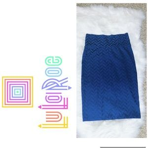 NWOT🎉 LULAROE Cassie Blue Print Stretchy Skirt